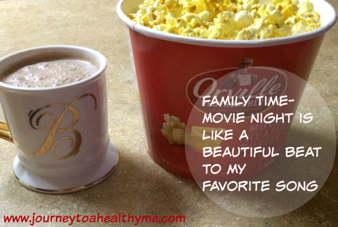 Family time-Movie night is like a beautiful beat to my favorite song
