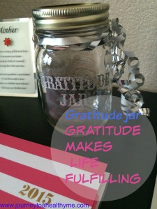 Gratitude jar-Gratitude makes life fulfilling