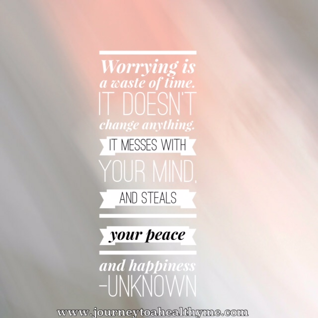 2 step process to stop worrying