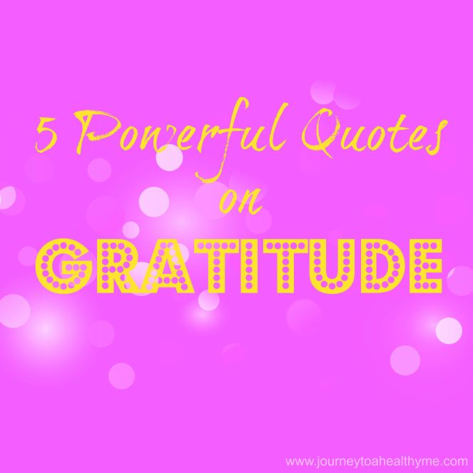 5 Powerful Quotes on Gratitude