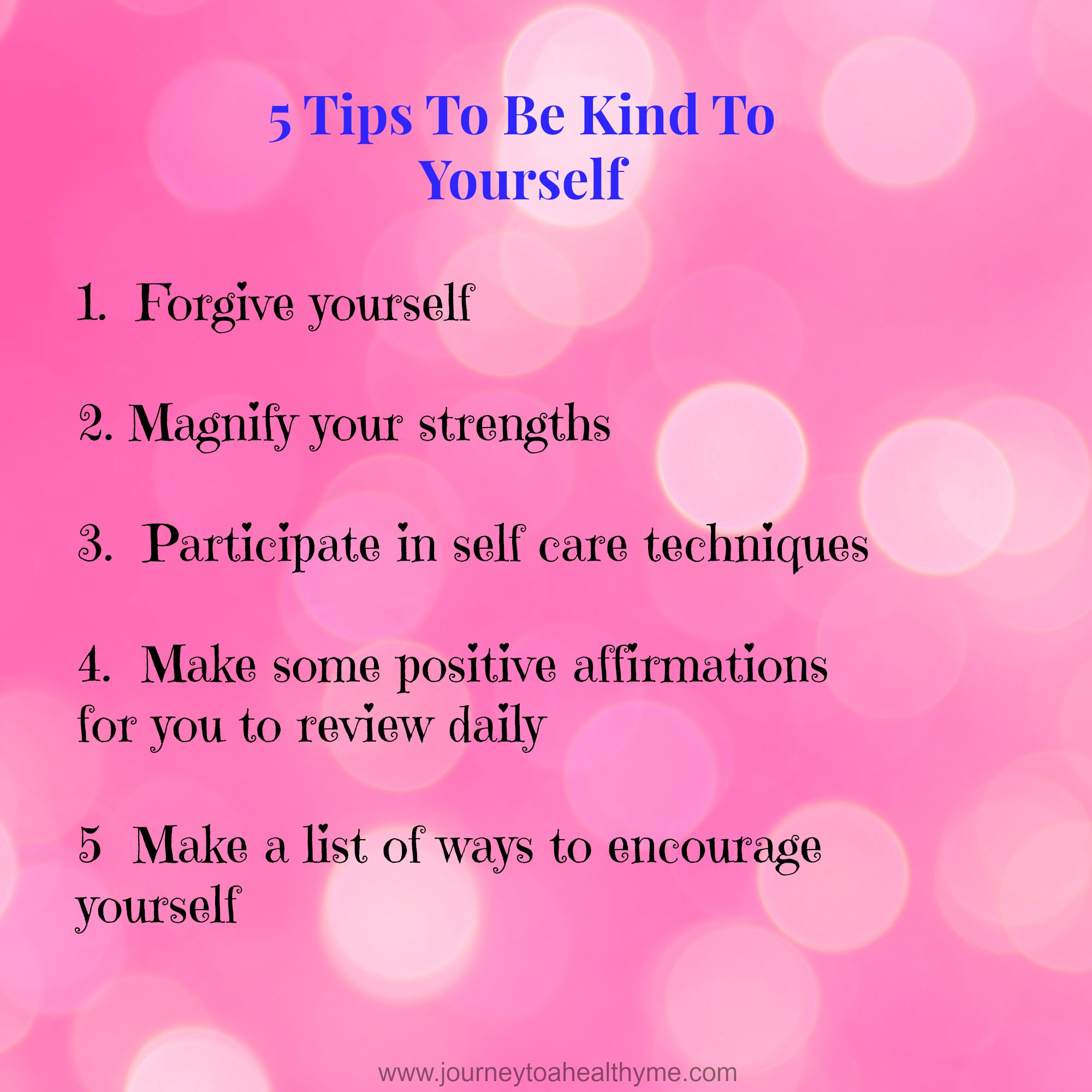 5 Steps To Be Kind To Yourself