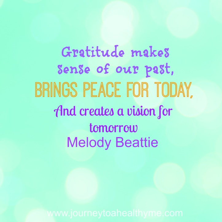 gratitude makes sense of our past brings peace for today