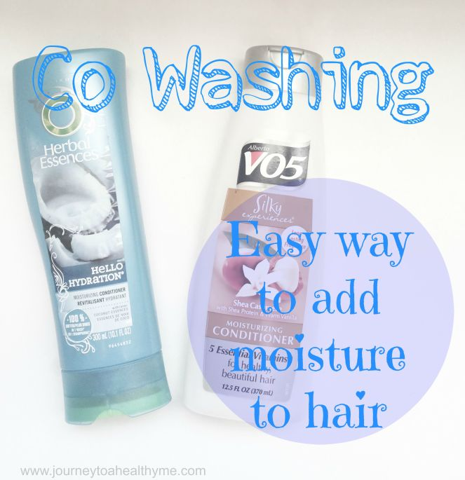 Co WashingEasy way to add moisture to hair