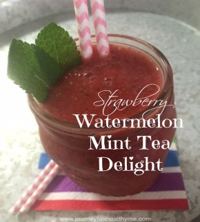 Strawberry Watermelon Mint Tea Smoothie
