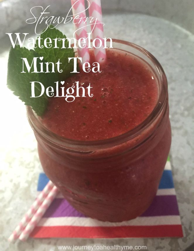 Strawberry watermelon mint tea delight smoothie