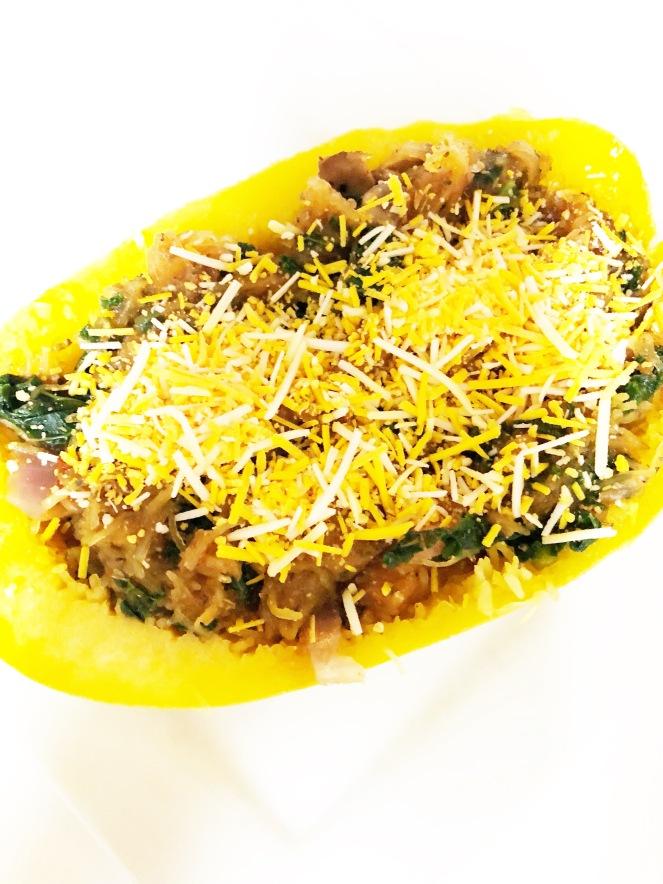Vegan Spaghetti Squash with Vegan Cheese