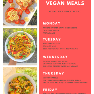 free plant based weekly meal plan